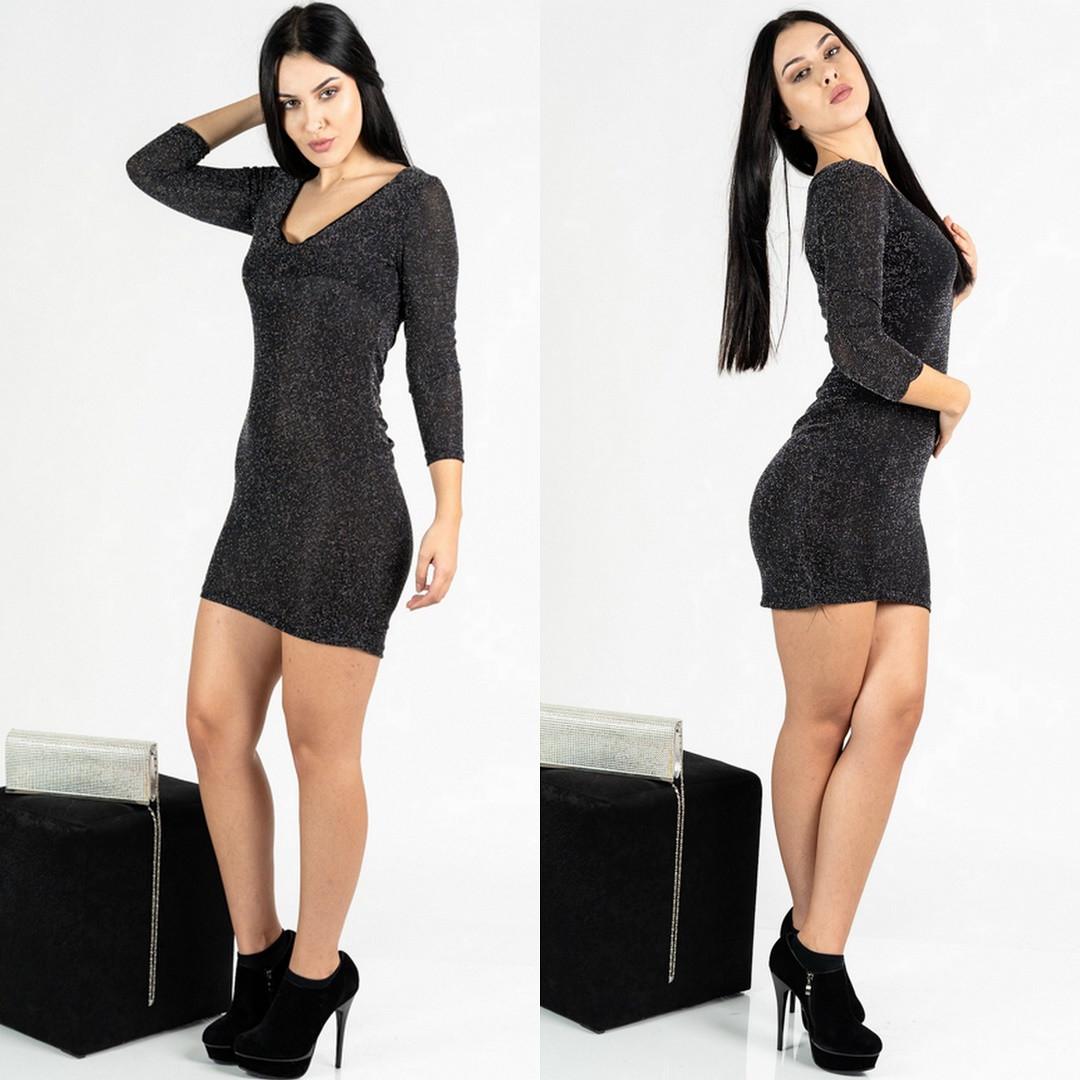 5fbf424deec6 1073 ΜΙΝΙ ΦΟΡΕΜΑ ΜΑΥΡΟ ΜΕΤΑΛΙΖΕ - Μοντέρνα γυναικεία ρούχα Online ...