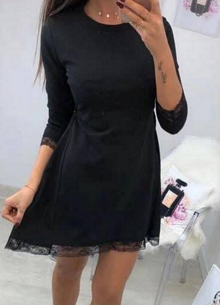 de7a2a9f07ea 1112 ΦΟΡΕΜΑ ΜΙΝΙ ΜΑΥΡΟ ΜΕ ΔΑΝΤΕΛΑ - Μοντέρνα γυναικεία ρούχα Online ...