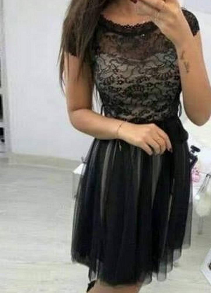 1114 ΜΙΝΤΙ ΦΟΡΕΜΑ ΜΕ ΔΑΝΤΕΛΑ ΚΑΙ ΤΟΥΛΙ - Μοντέρνα γυναικεία ρούχα Online  6b8308d0111