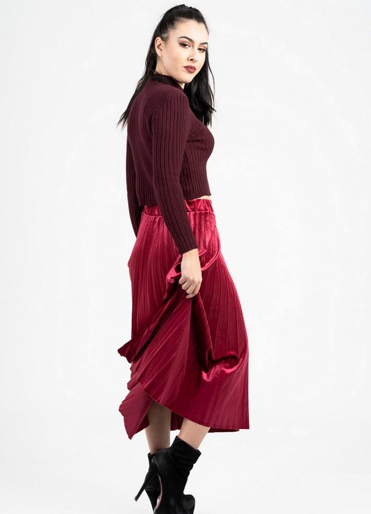 1171 ΜΠΟΡΝΤΟ ΜΙΝΤΙ ΦΟΥΣΤΑ ΠΛΙΣΕ ΒΕΛΟΥΤΕ - Μοντέρνα γυναικεία ρούχα Online  b292dd2b933