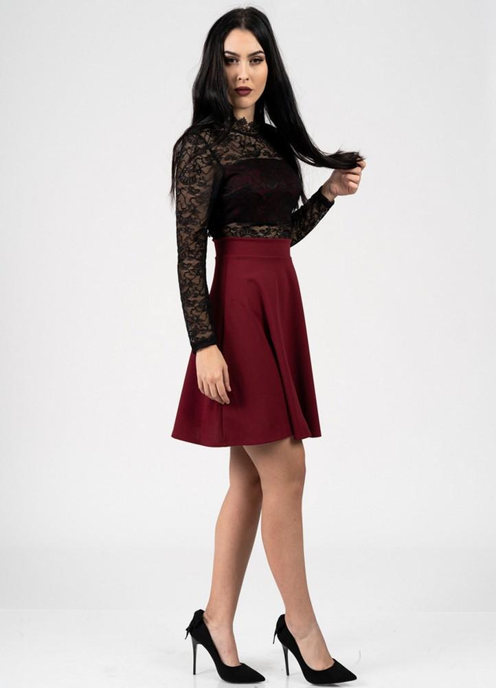 2366e59ee756 1187 ΦΟΡΕΜΑ ΜΠΟΡΝΤΟ ΜΕ ΜΑΥΡΗ ΔΑΝΤΕΛΑ - Μοντέρνα γυναικεία ρούχα ...