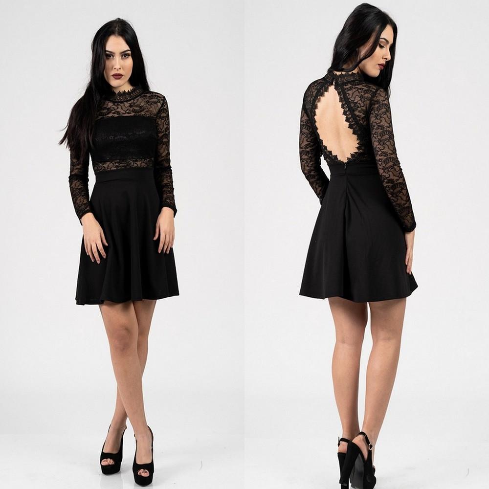 e7a363c9986f 1190 ΦΟΡΕΜΑ ΜΑΥΡΟ ΜΕ ΜΑΥΡΗ ΔΑΝΤΕΛΑ - Μοντέρνα γυναικεία ρούχα Online ...