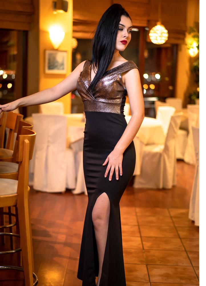 aceccbbbebf6 1252 ΜΑΞΙ ΦΟΡΕΜΑ ΜΕ ΣΚΙΣΙΜΟ ΑΠΟ ΤΗ ΜΙΑ ΠΛΕΥΡΑ - Μοντέρνα γυναικεία ρούχα  Online
