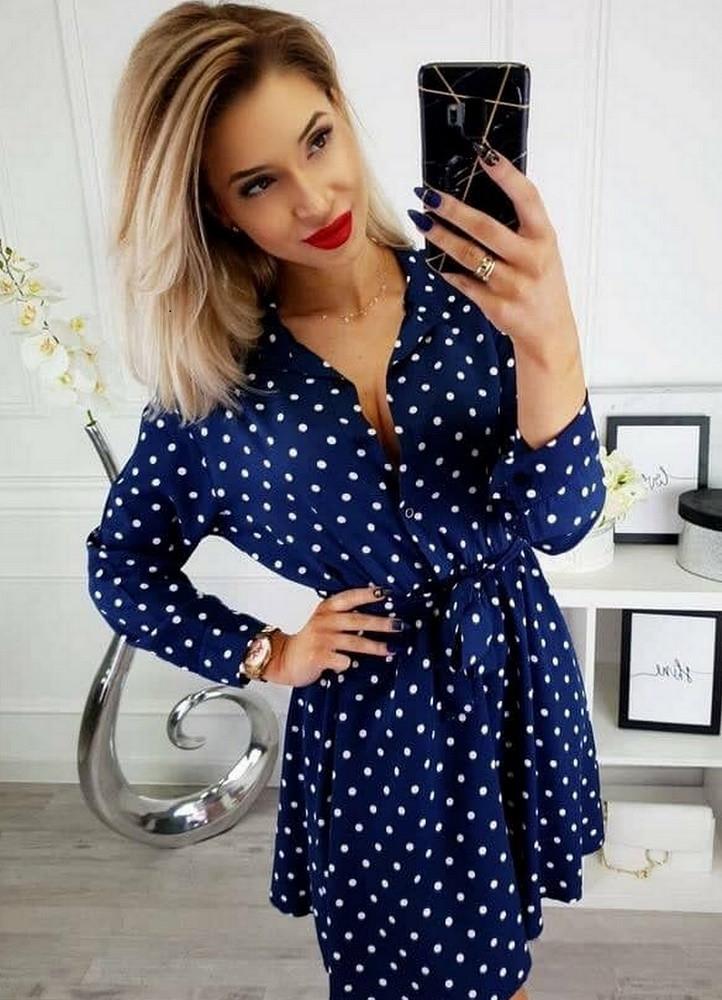 1350 ΜΠΛΕ ΦΟΡΕΜΑ ΠΟΥΑ ΜΕ ΖΩΝΗ - Μοντέρνα γυναικεία ρούχα Online ... 08158319c60