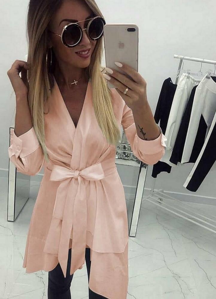 1379 ΡΟΖ ΠΟΥΚΑΜΙΣΑ BLAZER - Μοντέρνα γυναικεία ρούχα Online ... 5c0ad1648e4