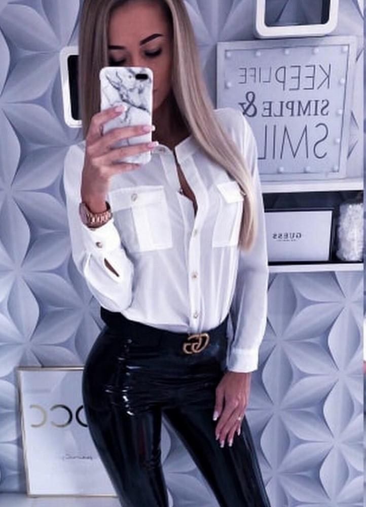 46251b8235 1558 ΛΕΥΚΟ ΠΟΥΚΑΜΙΣΟ ΜΕ ΤΣΕΠΕΣ - Μοντέρνα γυναικεία ρούχα Online ...