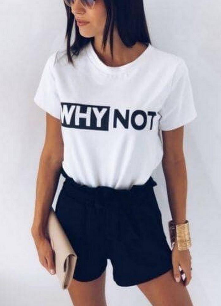 e2675b841cb8 1592 ΑΣΠΡΟ T-SHIRT ΜΕ ΣΤΑΜΠΑ - Μοντέρνα γυναικεία ρούχα Online ...