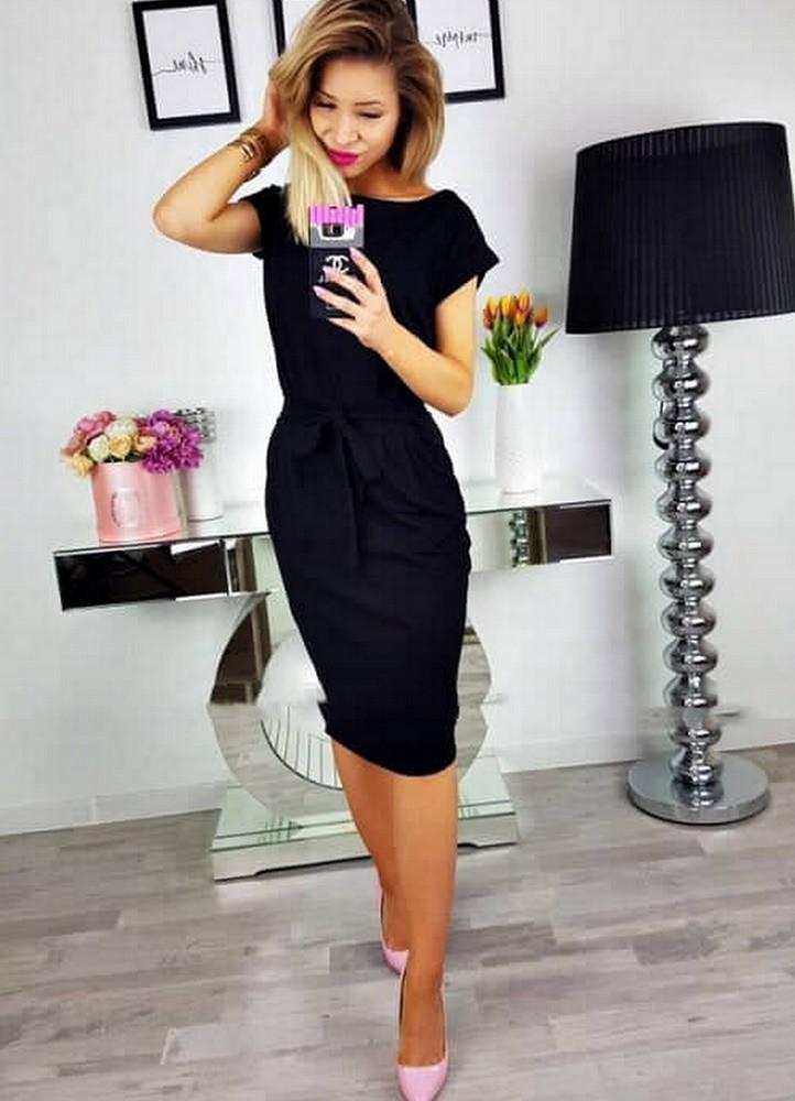 c13ef244ad 1672 ΜΑΥΡΟ ΦΟΡΕΜΑ ΜΙΝΤΙ ΜΕ ΖΩΝΗ - Μοντέρνα γυναικεία ρούχα Online ...