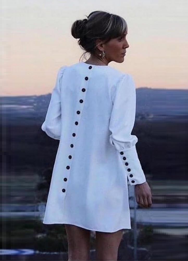 16a95c0b9c 1775 ΦΟΡΕΜΑ ΛΕΥΚΟ ΜΕ ΜΑΥΡΑ ΚΟΥΜΠΙΑ - Μοντέρνα γυναικεία ρούχα Online ...