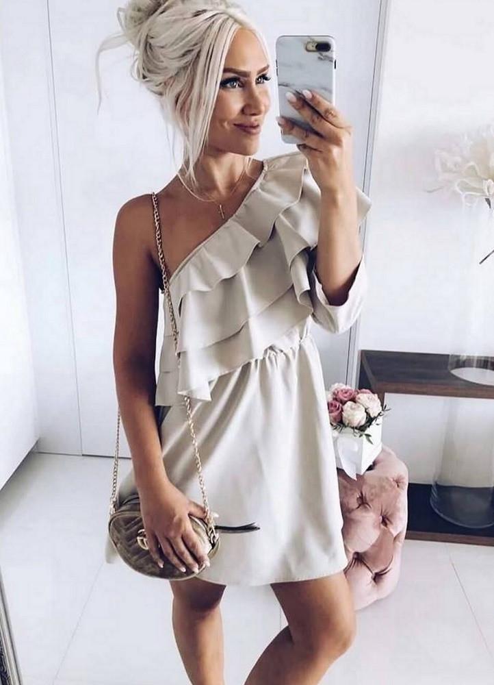 c305c43416b1 1833 ΜΠΕΖ ΦΟΡΕΜΑ ΜΕ ΕΝΑΝ ΩΜΟ ΕΞΩ - Μοντέρνα γυναικεία ρούχα Online ...