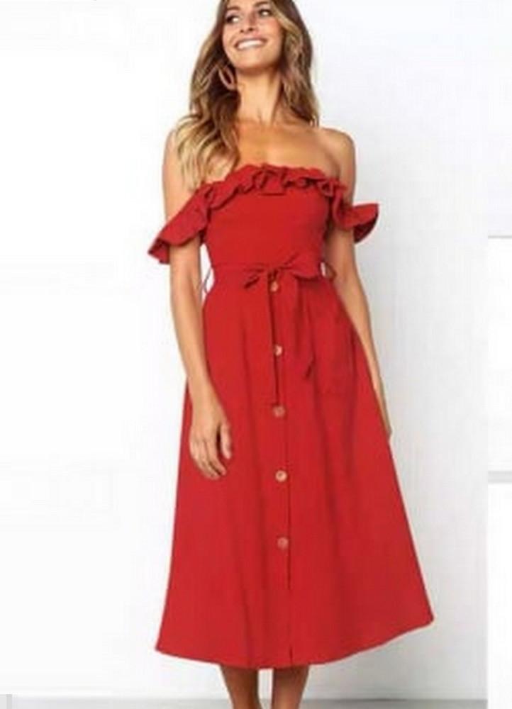 526cf0d7a821 2335 ΚΟΚΚΙΝΟ ΜΙΝΤΙ ΦΟΡΕΜΑ ΕΞΩΜΟ - Μοντέρνα γυναικεία ρούχα Online ...