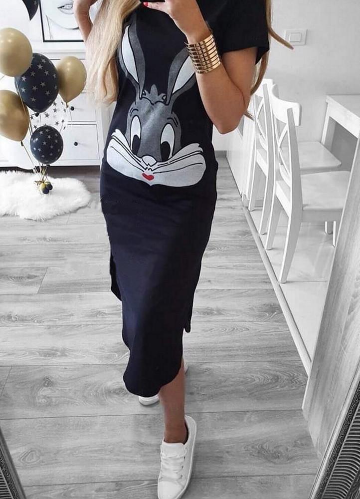 3b380a956050 2525 ΜΑΥΡΟ ΜΙΝΤΙ ΦΟΡΕΜΑ ΜΕ ΣΤΑΜΠΑ - Μοντέρνα γυναικεία ρούχα Online ...
