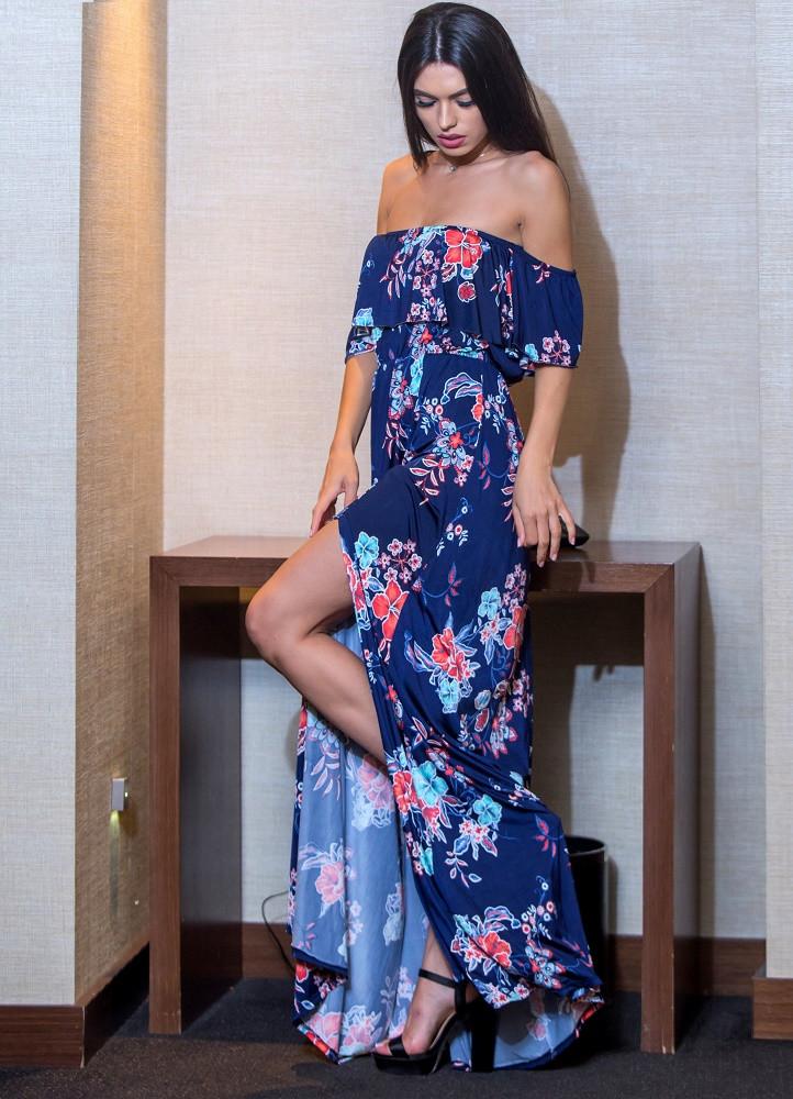 e0687eb214c9 630 ΜΑΞΙ ΦΟΡΕΜΑ ΣΤΡΑΠΛΕΣ ΜΕ ΜΑΝΙΚΑΚΙ - Μοντέρνα γυναικεία ρούχα Online