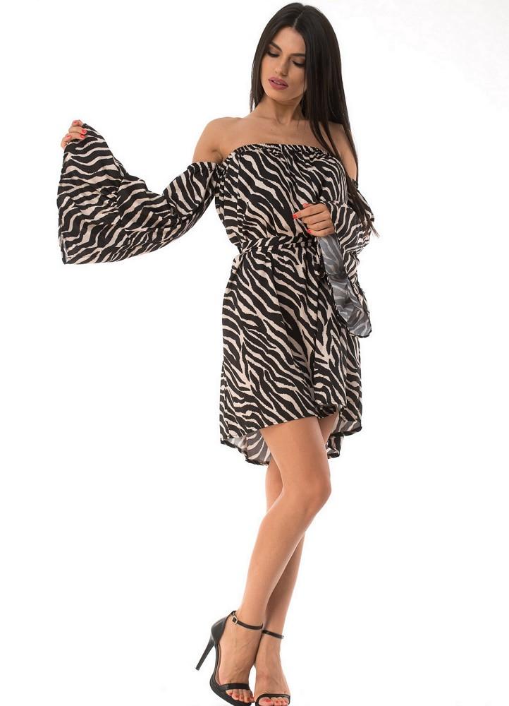 778 ΜΙΝΙ ΦΟΡΕΜΑ ΜΕ ΚΑΜΠΑΝΑ ΜΑΝΙΚΙ - Μοντέρνα γυναικεία ρούχα Online ... 9f69f4493ae