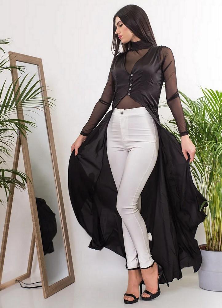 994 ΠΟΥΚΑΜΙΣΑ ΜΑΥΡΗ ΑΣΥΜΕΤΡΗ - Μοντέρνα γυναικεία ρούχα Online ... 72fe29bc2e8