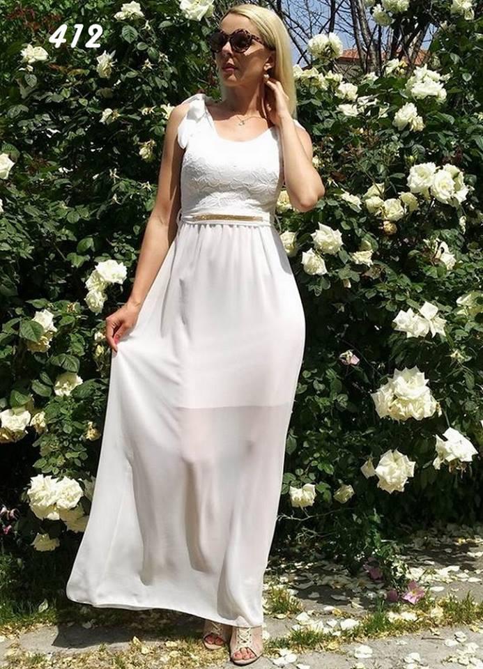 412 ΑΣΠΡΟ ΜΑΞΙ ΦΟΡΕΜΑ - Μοντέρνα γυναικεία ρούχα Online ... 87d71ccdc9d