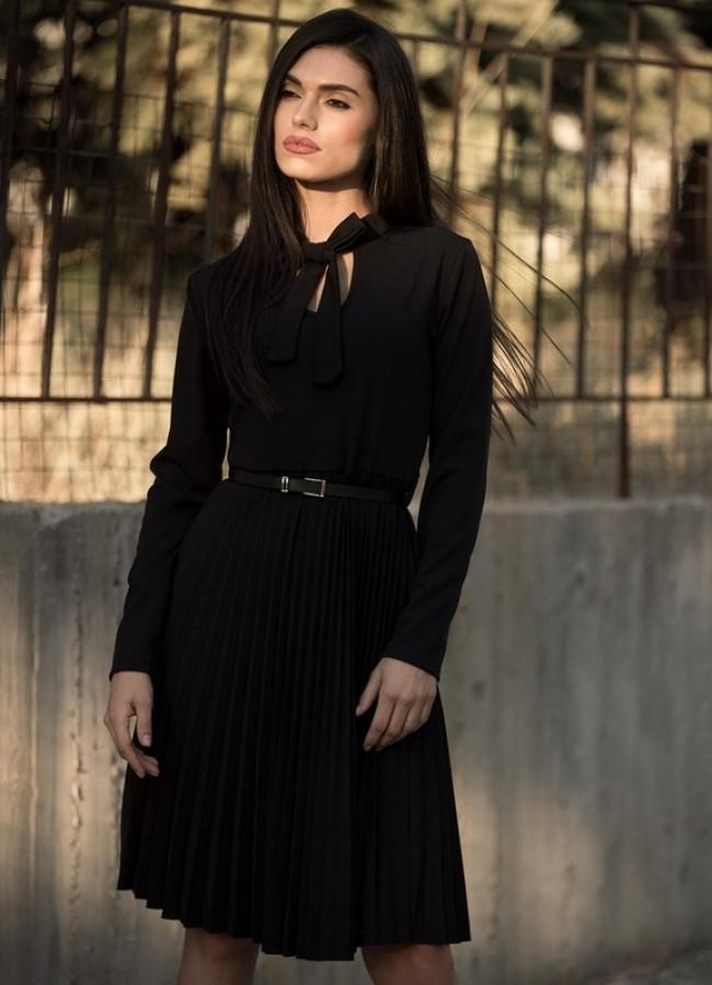 1c1bfa7c6bbb 886 ΜΙΝΤΙ ΜΑΥΡΟ ΦΟΡΕΜΑ ΠΛΙΣΕ - Μοντέρνα γυναικεία ρούχα Online ...