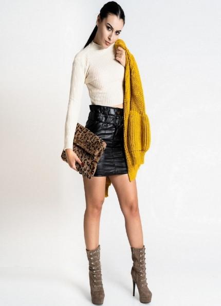 1011 ΕΚΡΟΥ ΜΠΛΟΥΖΑΚΙ ΜΑΚΡΥΜΑΝΙΚΟ - Μοντέρνα γυναικεία ρούχα Online ... 4d6024c050b