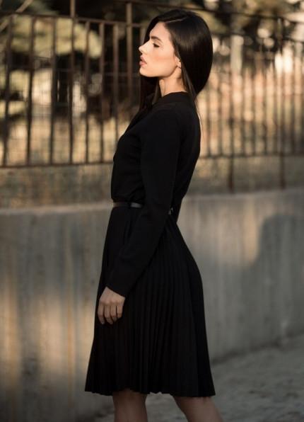 d5bfd7d667a4 886 ΜΙΝΤΙ ΜΑΥΡΟ ΦΟΡΕΜΑ ΠΛΙΣΕ - Μοντέρνα γυναικεία ρούχα Online ...
